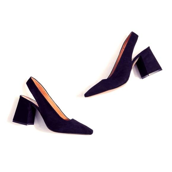 973bd016c96a Topshop Shoes   Gainor Black Slingback Heeled   Poshmark